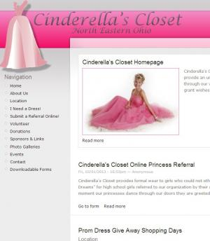 Cinderella's Closet Web Site Hosted and Designed by Home PC Patrol